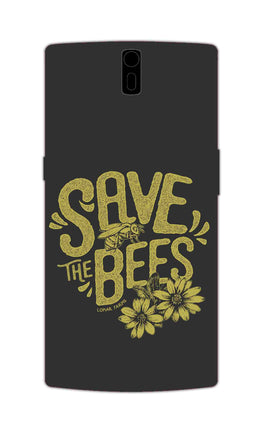 Save The Bees Motivation Quote OnePlus 1 Mobile Cover Case