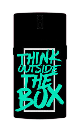 Think Outside The Box Motivation Quote OnePlus 1 Mobile Cover Case