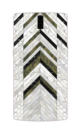 Marble Strips Line Pattern Geometric Art OnePlus 1 Mobile Cover Case
