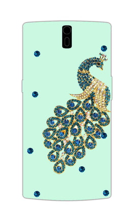 Beautiful Peacock Stone Art  OnePlus 1 Mobile Cover Case