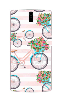 Bicycles Everywhere So Girly OnePlus 1 Mobile Cover Case