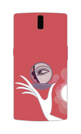 Mirror On Hand Art So Girly Pattern OnePlus 1 Mobile Cover Case