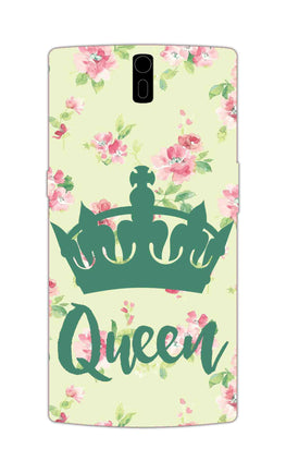 Floral Queen Pattern So Girly OnePlus 1 Mobile Cover Case