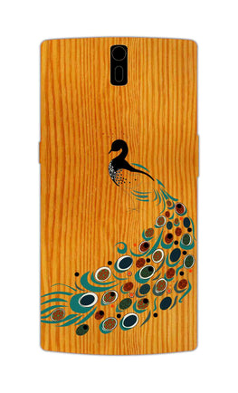 Peacock On Wood So Girly Pattern OnePlus 1 Mobile Cover Case