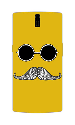 Cool Shady Moustache Yellow OnePlus 1 Mobile Cover Case
