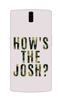 Hows The Josh Typography OnePlus 1 Mobile Cover Case