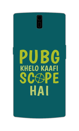 Pubg Khelo Kaafi Scope Hai Game Lovers OnePlus 1 Mobile Cover Case