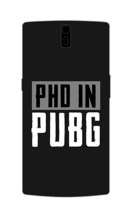PHD In Pubg Typography For Game Lovers OnePlus 1 Mobile Cover Case