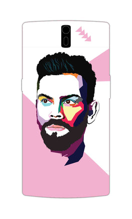 Virat Koli Art For Kohli Cricket Lovers OnePlus 1 Mobile Cover Case
