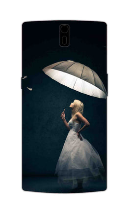 Girl With Umbrella So Girly  OnePlus 1 Mobile Cover Case
