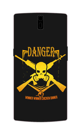 Danger Gun Sign Typography OnePlus 1 Mobile Cover Case