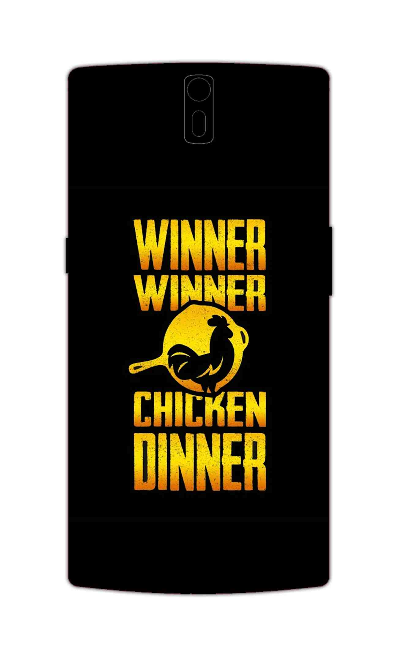 Chicken Dinner Pan For Winner Typography OnePlus 1 Mobile Cover Case - MADANYU