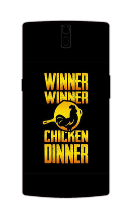 Chicken Dinner Pan For Winner Typography OnePlus 1 Mobile Cover Case