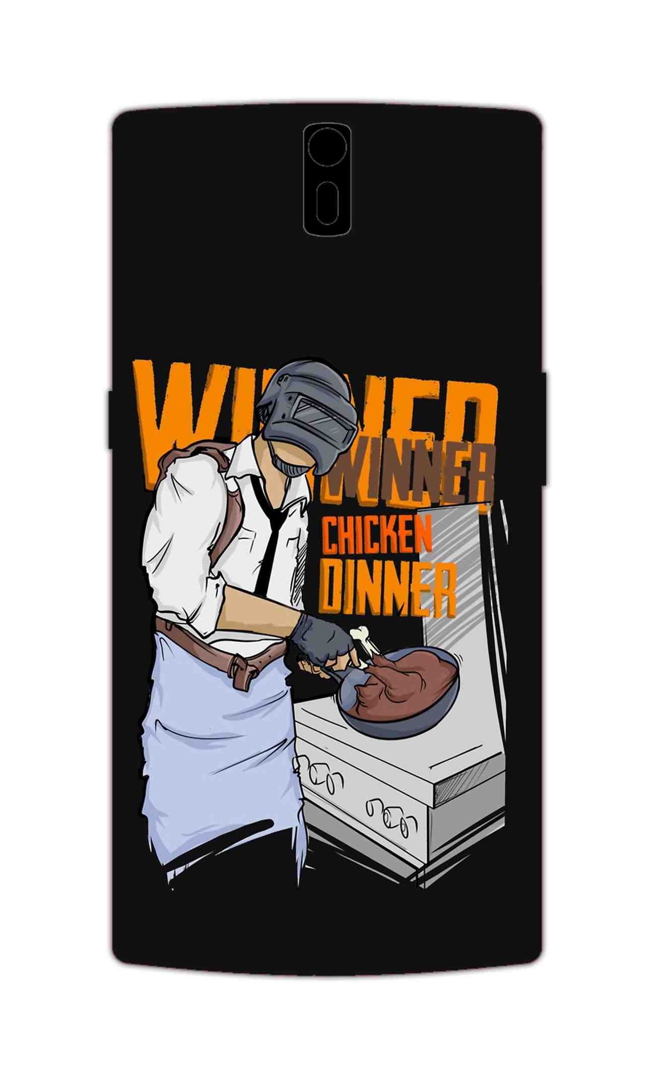 Man Making Chicken Dinner For Game Lovers OnePlus 1 Mobile Cover Case - MADANYU