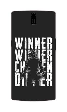 Chicken Dinner For Winner Typography Art OnePlus 1 Mobile Cover Case