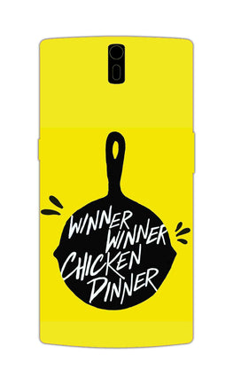 Chicken Pan Typography Art OnePlus 1 Mobile Cover Case