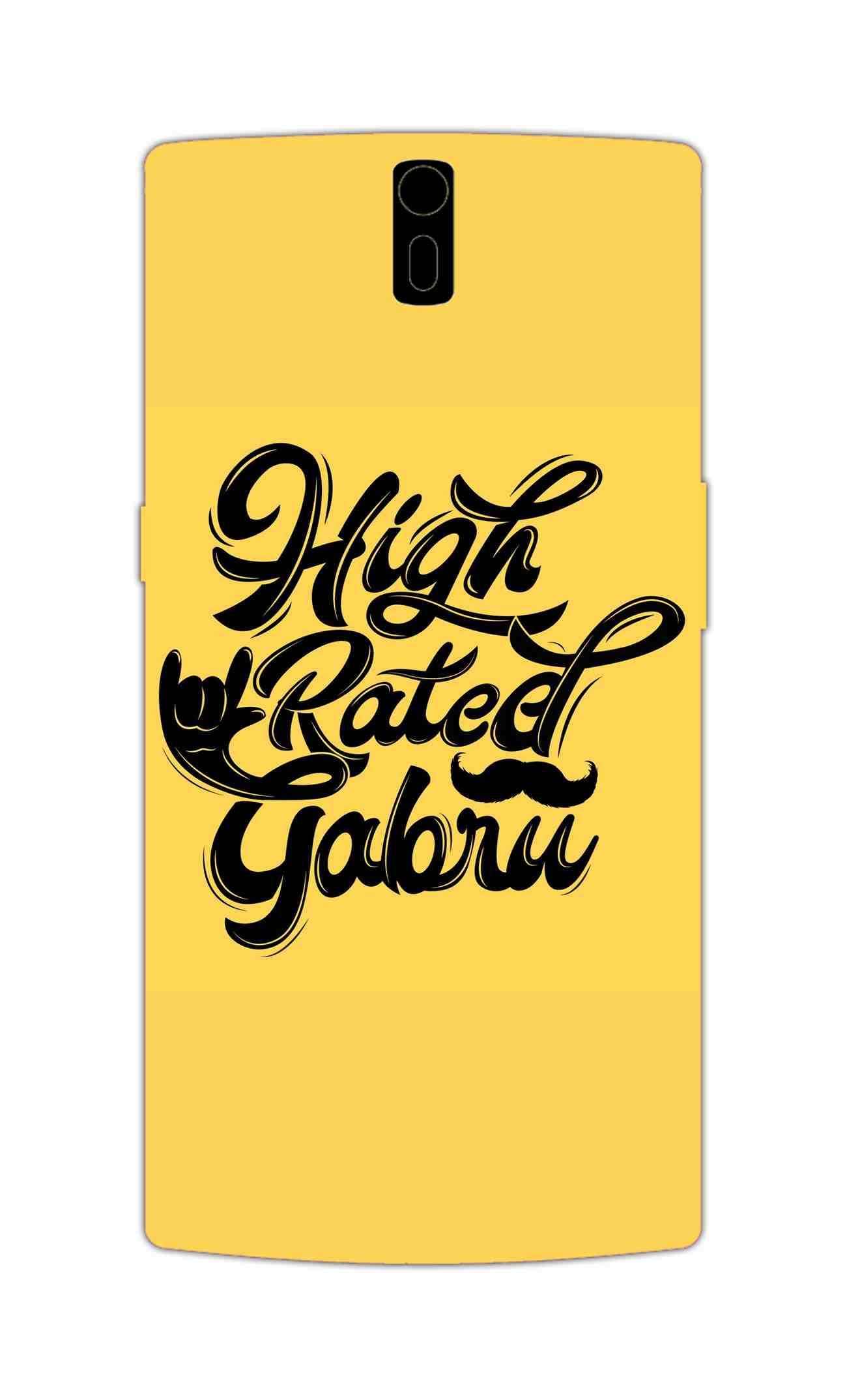 High Rated Gabru Song Typography OnePlus 1 Mobile Cover Case - MADANYU