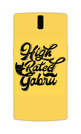 High Rated Gabru Song Typography OnePlus 1 Mobile Cover Case