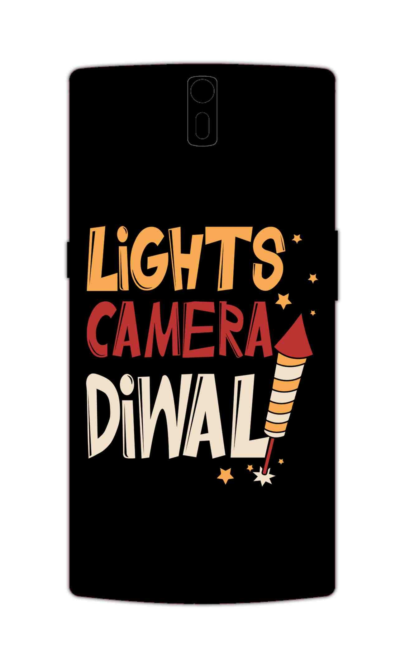 Lights Camera Diwali Enjoy Festival Of Light OnePlus 1 Mobile Cover Case - MADANYU