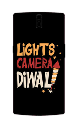 Lights Camera Diwali Enjoy Festival Of Light OnePlus 1 Mobile Cover Case