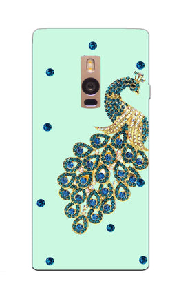 Beautiful Peacock Stone Art  OnePlus 2 Mobile Cover Case