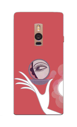 Mirror On Hand Art So Girly Pattern OnePlus 2 Mobile Cover Case