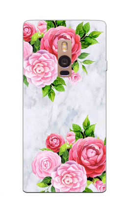 Pink Roses Floral Marble So Girly OnePlus 2 Mobile Cover Case