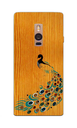 Peacock On Wood So Girly Pattern OnePlus 2 Mobile Cover Case
