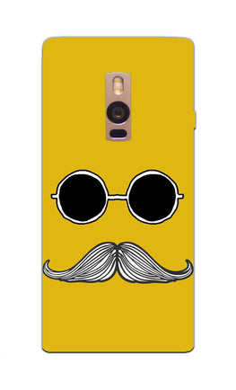 Cool Shady Moustache Yellow OnePlus 2 Mobile Cover Case