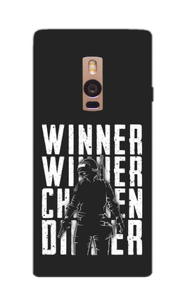 Chicken Dinner For Winner Typography Art OnePlus 2 Mobile Cover Case
