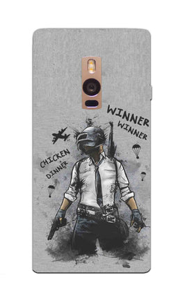 Winner Winner Chicken Dinner Typography Art OnePlus 2 Mobile Cover Case