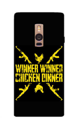 Gun And Chicken For Winner Typography Art OnePlus 2 Mobile Cover Case