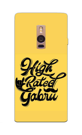 High Rated Gabru Song Typography OnePlus 2 Mobile Cover Case