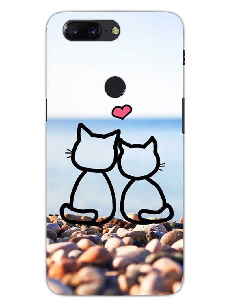 Cat Couple OnePlus 5T Mobile Cover Case