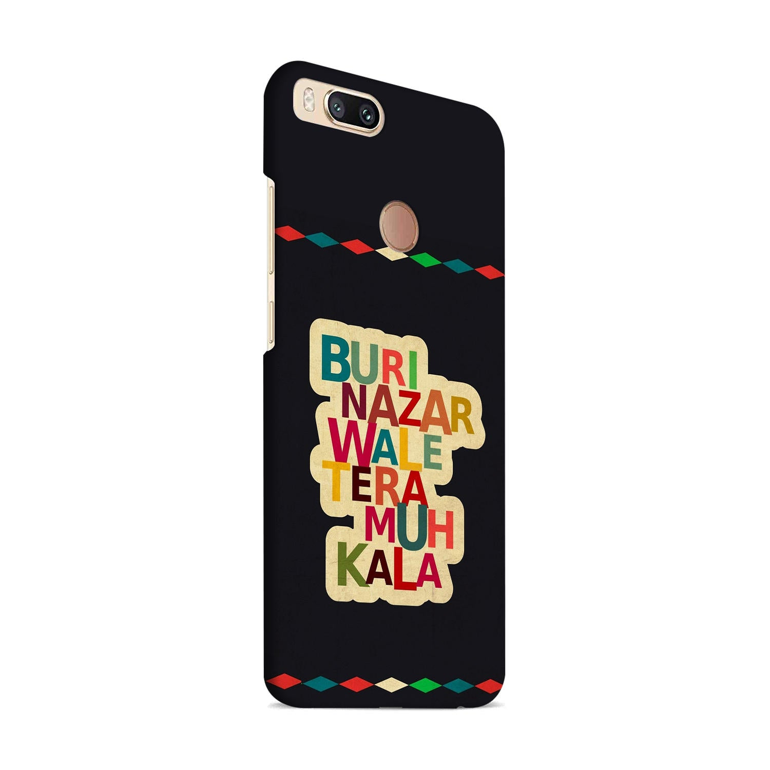Buri Nazar Wale Tera Muh Kala Indian Typography OnePlus 5T Mobile Cover Case - MADANYU