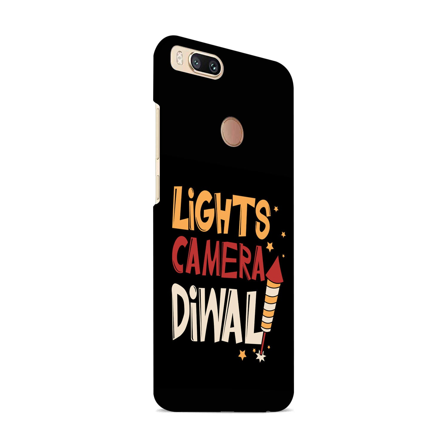 Lights Camera Diwali Enjoy Festival Of Light OnePlus 5T Mobile Cover Case - MADANYU