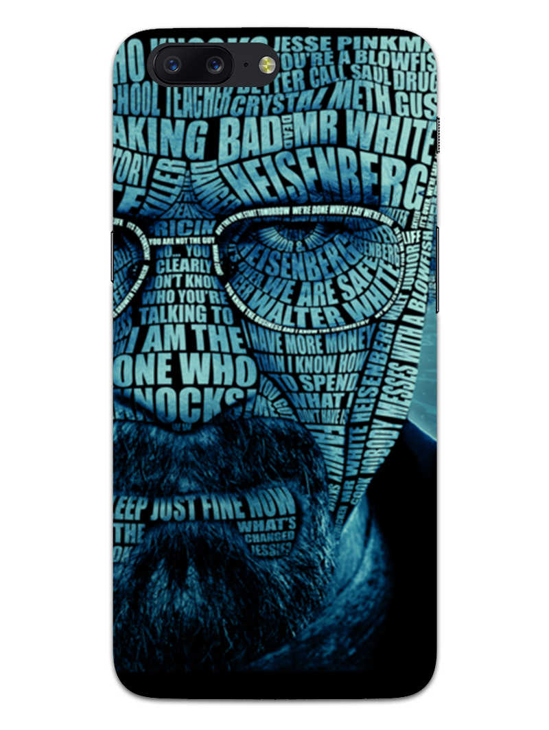Heisenberg Typography OnePlus 5 Mobile Cover Case