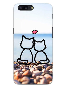 Cat Couple OnePlus 5 Mobile Cover Case