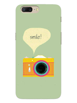 Smile Vintage Camera OnePlus 5 Mobile Cover Case