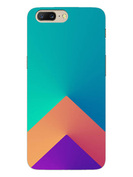 Triangular Shapes OnePlus 5 Mobile Cover Case