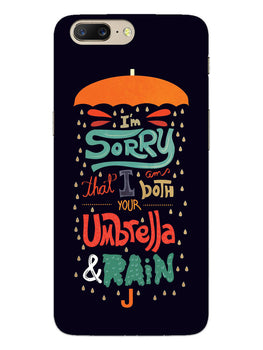 Umbrella And Rain Rainny Quote OnePlus 5 Mobile Cover Case