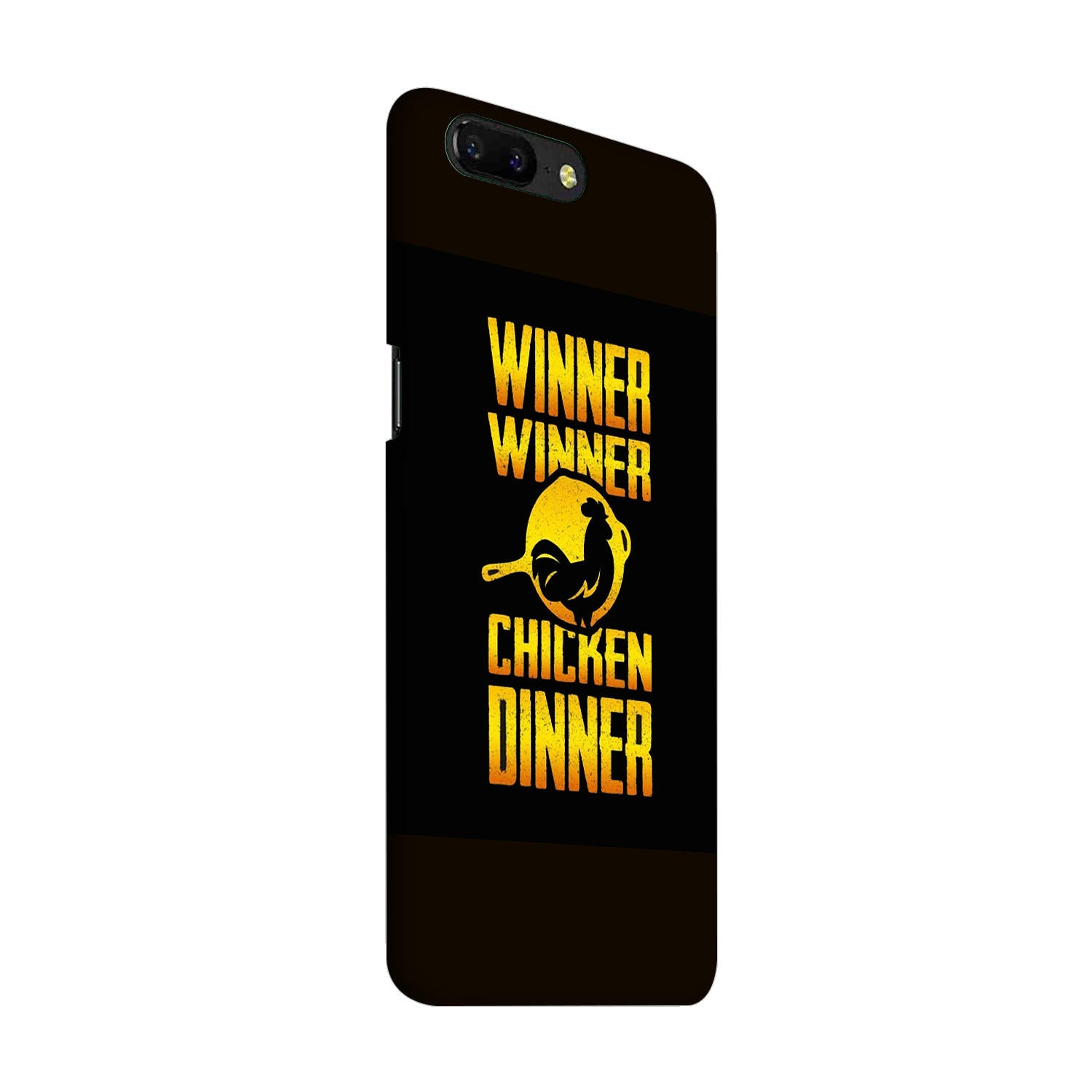 Chicken Dinner Pan For Winner Typography OnePlus 5 Mobile Cover Case - MADANYU