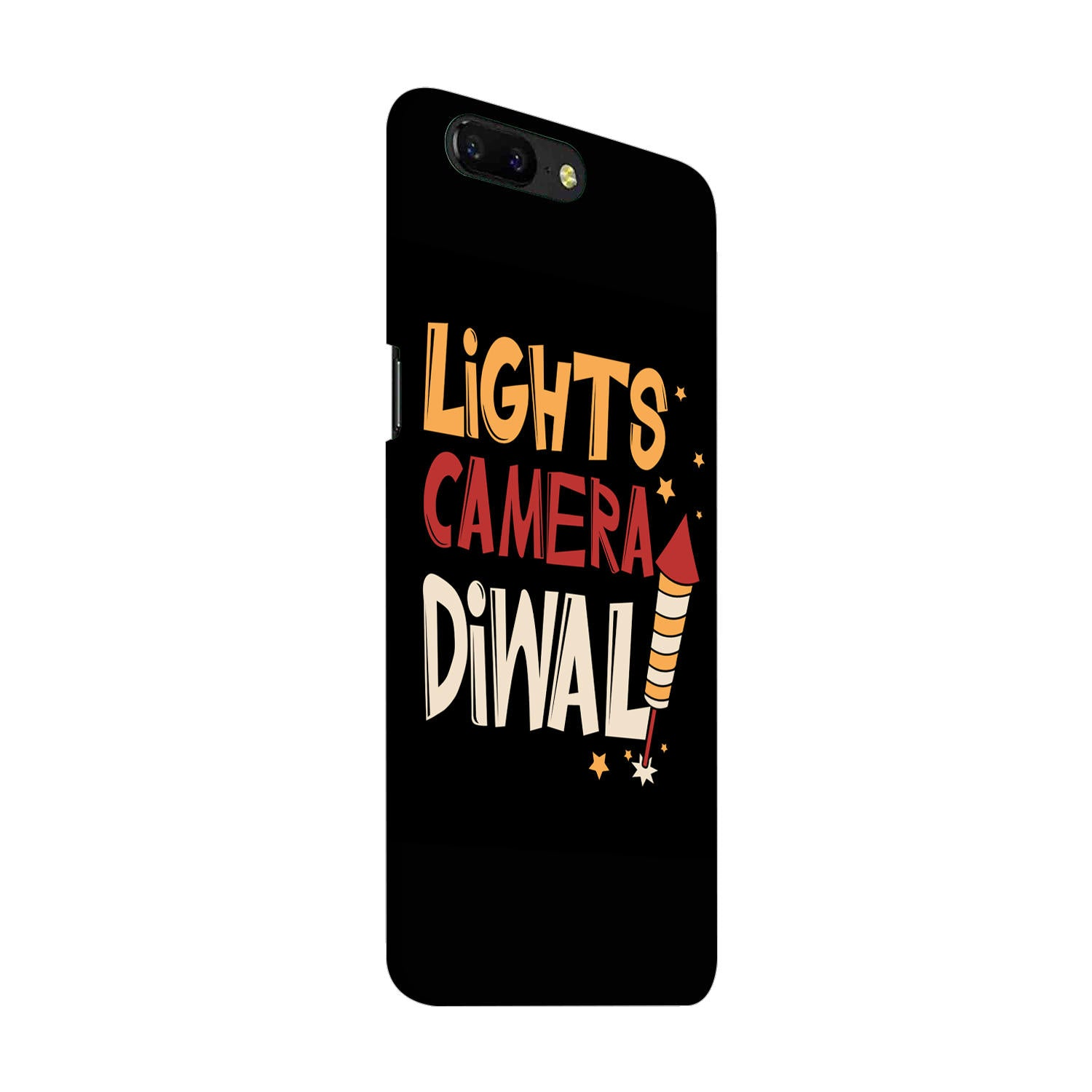 Lights Camera Diwali Enjoy Festival Of Light OnePlus 5 Mobile Cover Case - MADANYU