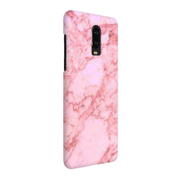 White Marble Red OnePlus 7 Cover Case