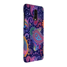 Designer Paisley Multicolor OnePlus 7 Cover Case (For Girls)