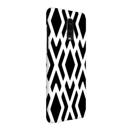 Black White Geometry OnePlus 7 Cover Case (For Girls)