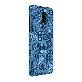 Doodles Blue Quote OnePlus 7 Cover Case