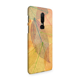 Colourful Leaves Art So Girly OnePlus 6 Mobile Cover Case