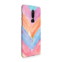 WaterColor Chevron Pattern OnePlus 6 Mobile Cover Case