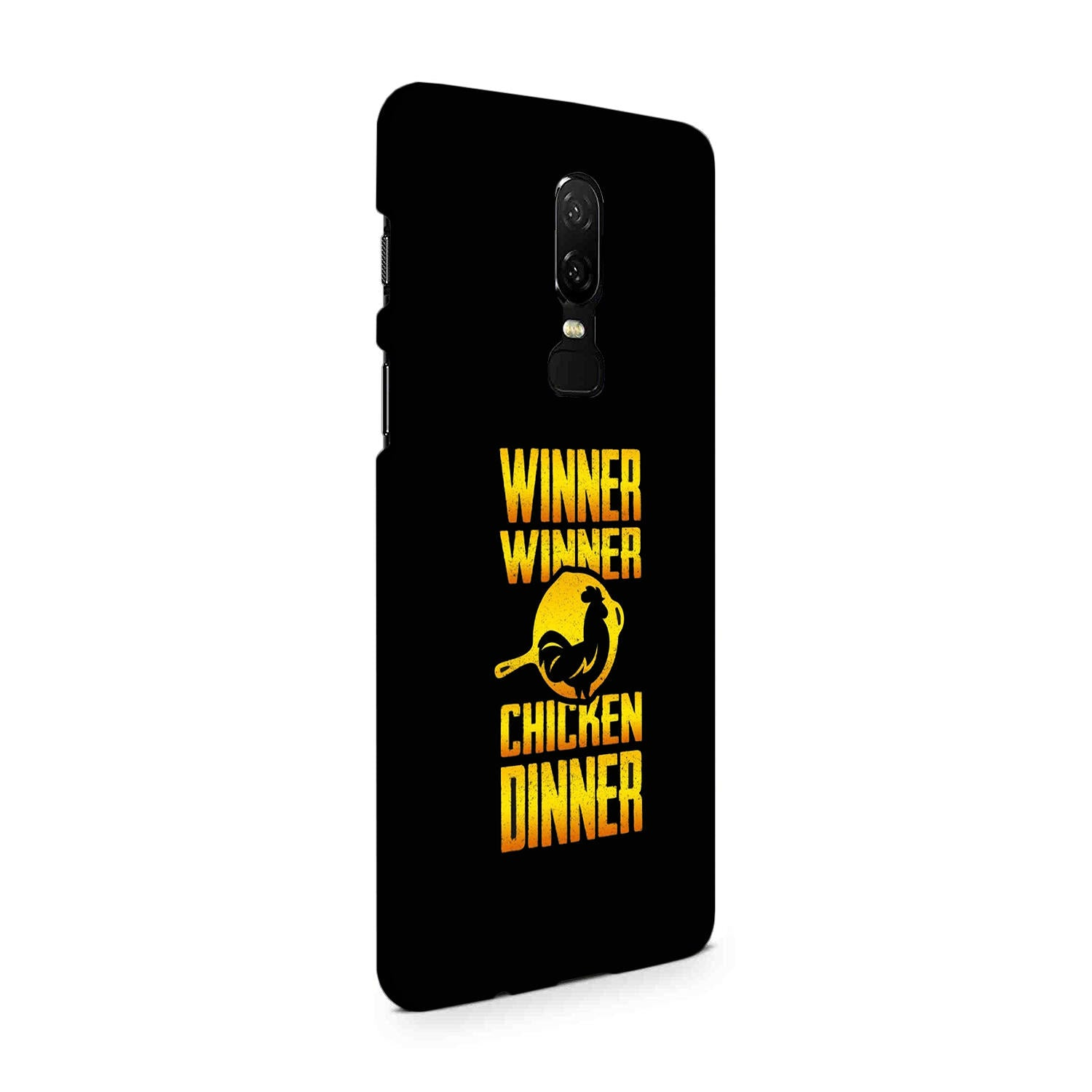 Chicken Dinner Pan For Winner Typography OnePlus 6 Mobile Cover Case - MADANYU